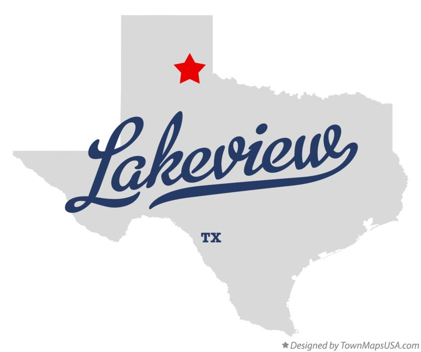 Map of Lakeview Texas TX