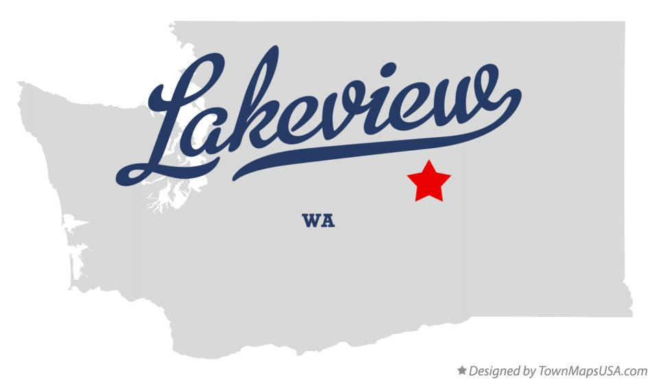 Map of Lakeview Washington WA