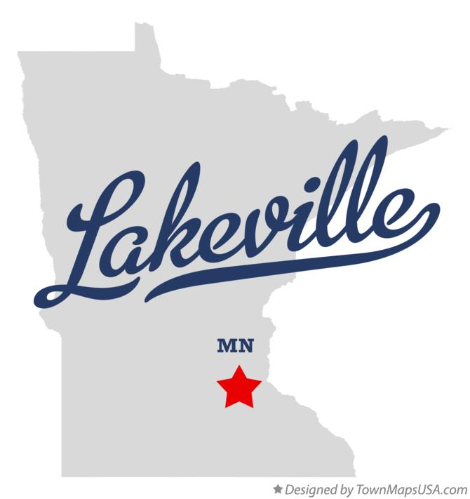 Map of Lakeville Minnesota MN