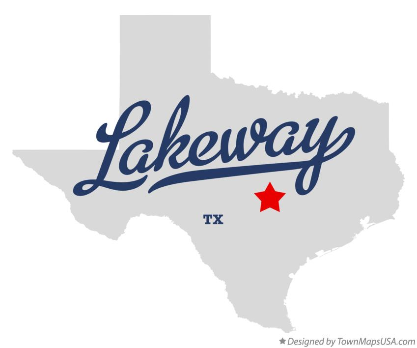 Map of Lakeway Texas TX