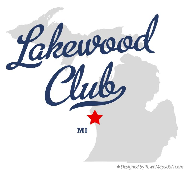 Map of Lakewood Club Michigan MI