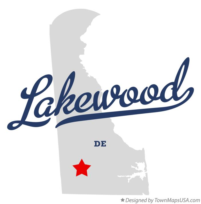 Map of Lakewood Delaware DE