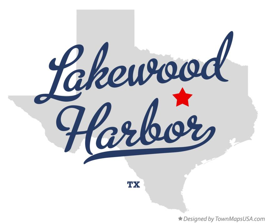 Map of Lakewood Harbor Texas TX
