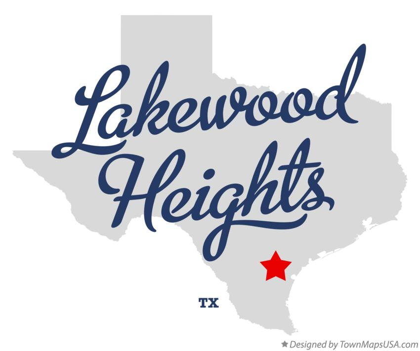 Map of Lakewood Heights Texas TX