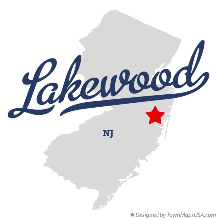 Map of Lakewood New Jersey NJ