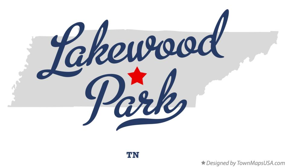 Map of Lakewood Park Tennessee TN