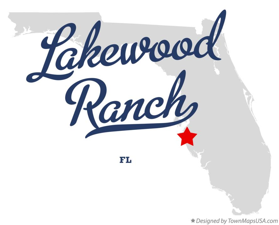 Map of Lakewood Ranch, FL, Florida