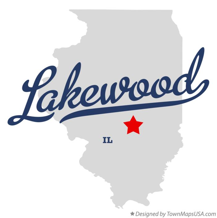 Map of Lakewood Illinois IL