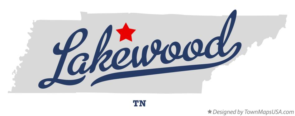 Map of Lakewood Tennessee TN