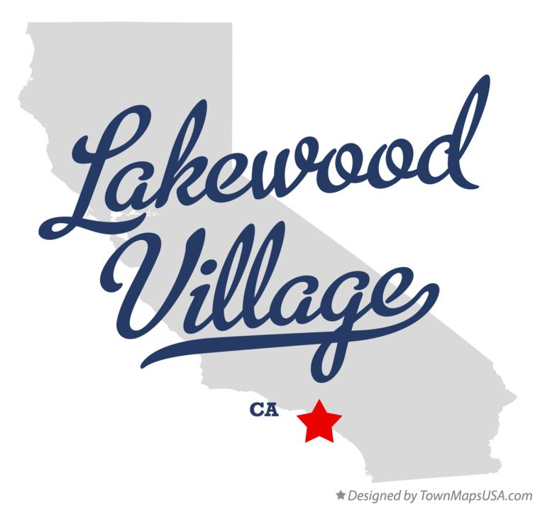 Map of Lakewood Village California CA