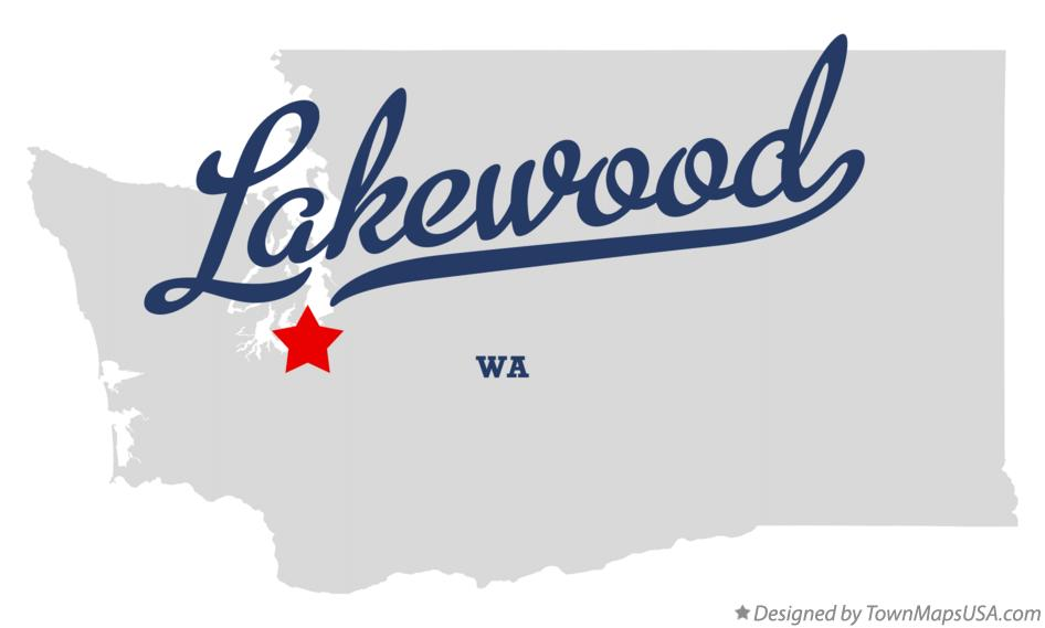Map of Lakewood Washington WA