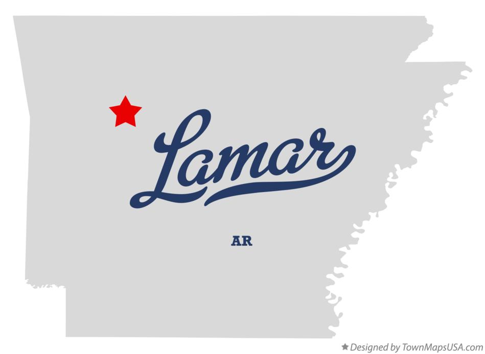Map of Lamar Arkansas AR