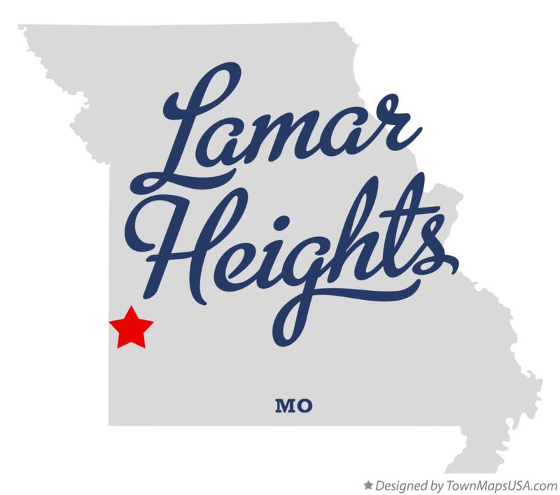 Map of Lamar Heights Missouri MO
