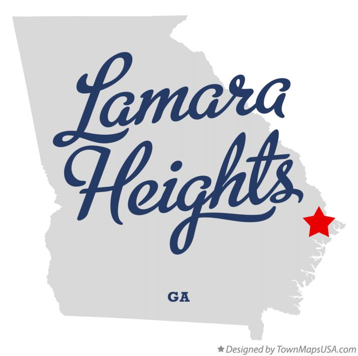 Map of Lamara Heights Georgia GA