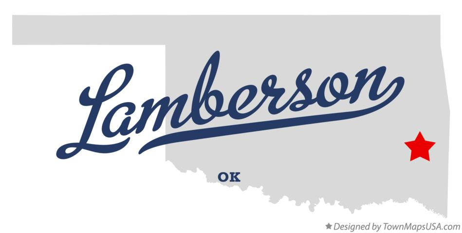 Map of Lamberson Oklahoma OK