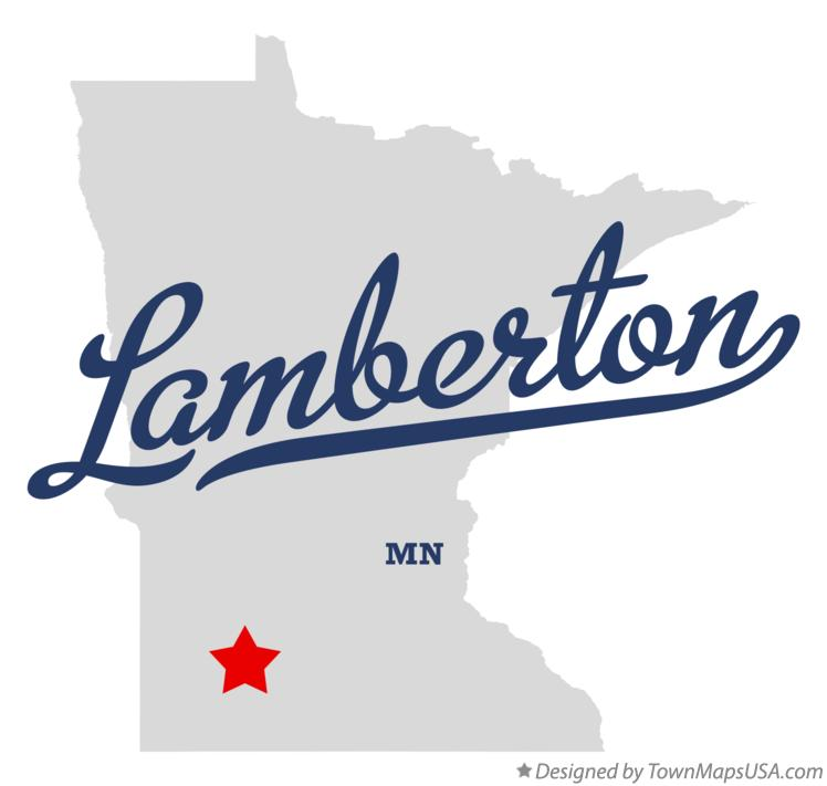 Map of Lamberton Minnesota MN