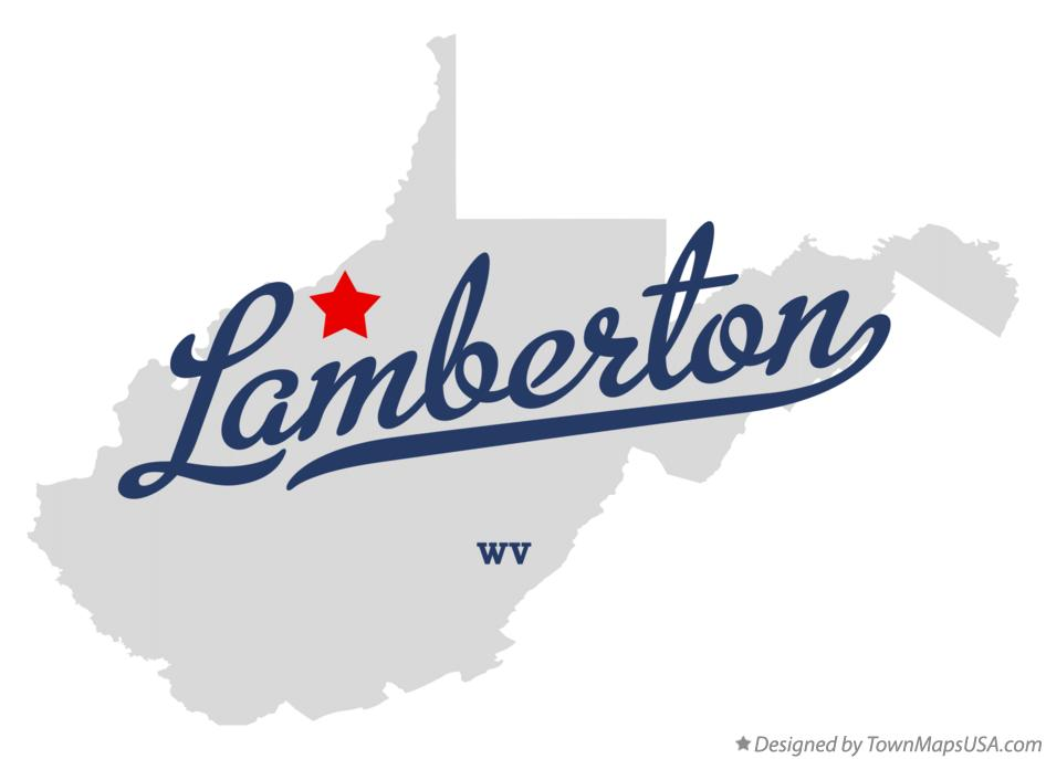 Map of Lamberton West Virginia WV