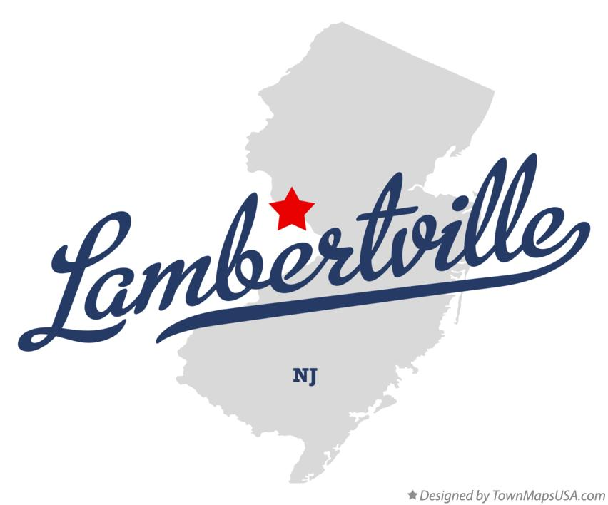 Map of Lambertville New Jersey NJ