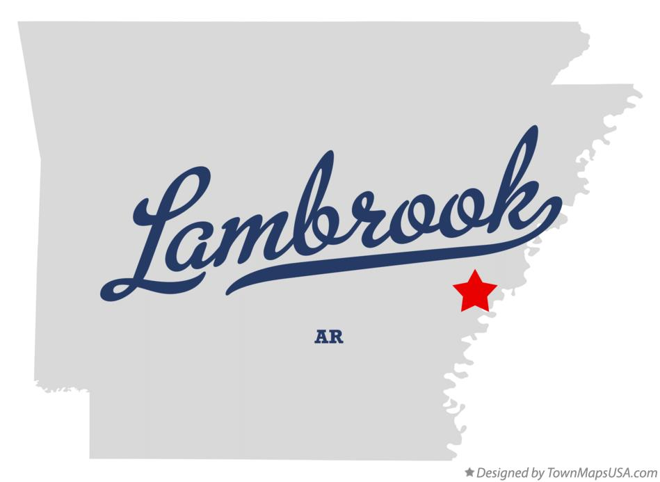 Map of Lambrook Arkansas AR
