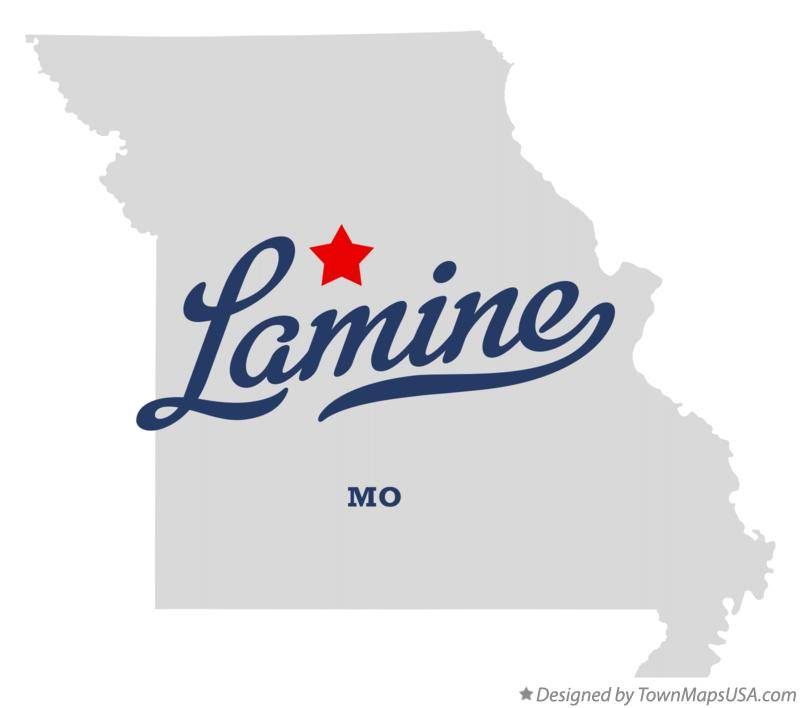 Map of Lamine Missouri MO