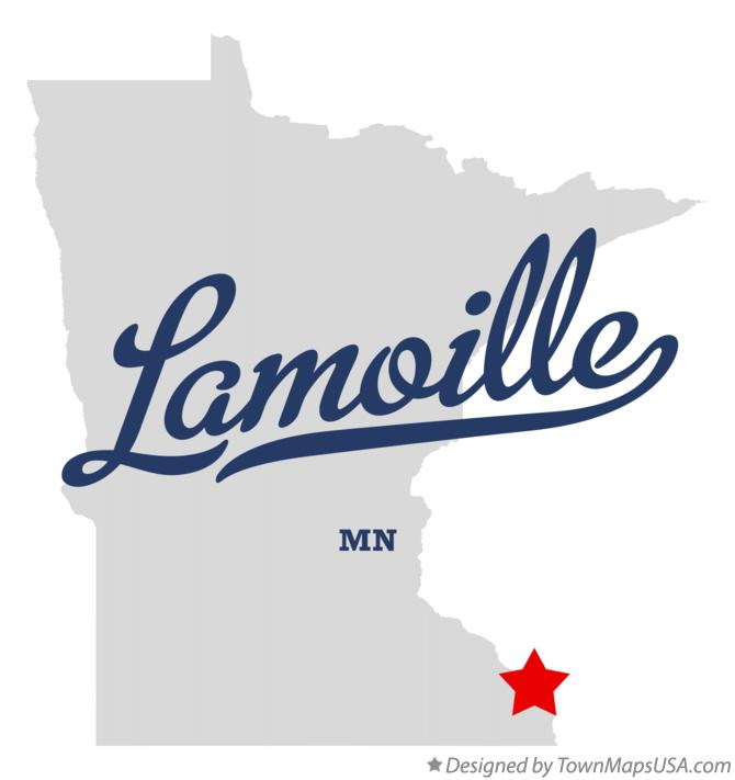 Map of Lamoille Minnesota MN