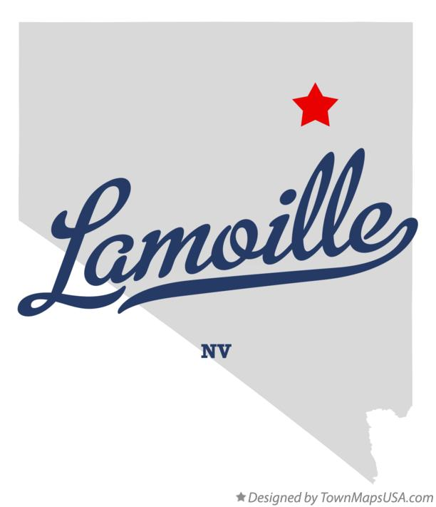 Map of Lamoille Nevada NV
