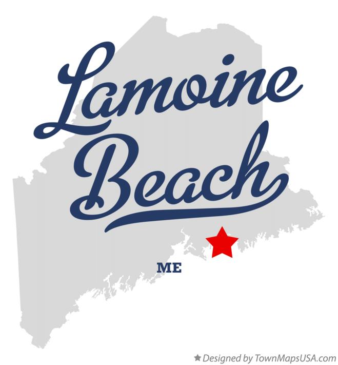 Map of Lamoine Beach Maine ME