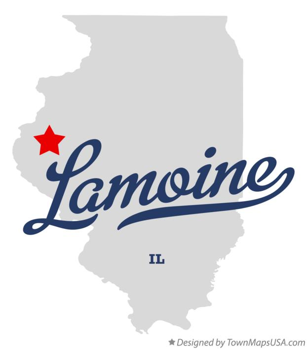 Map of Lamoine Illinois IL