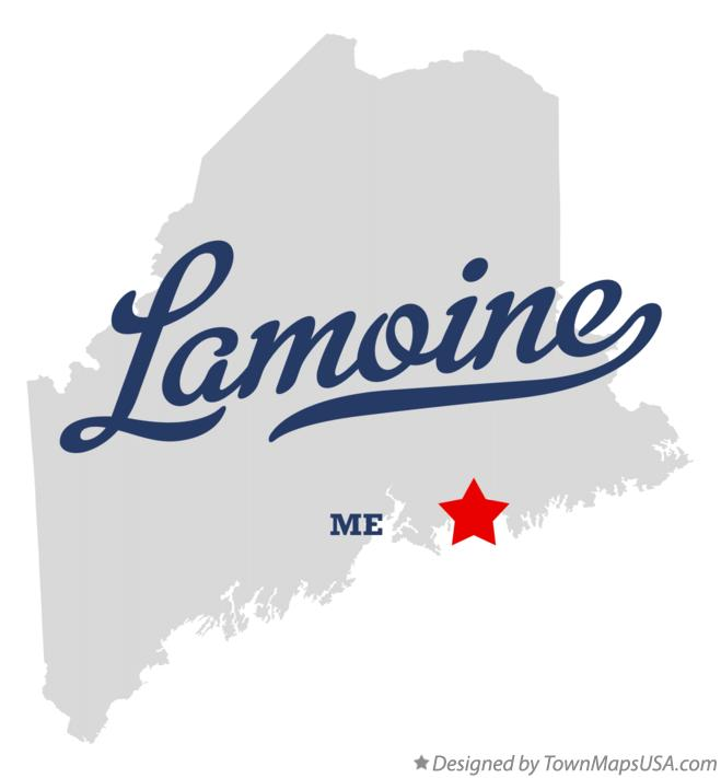Map of Lamoine Maine ME