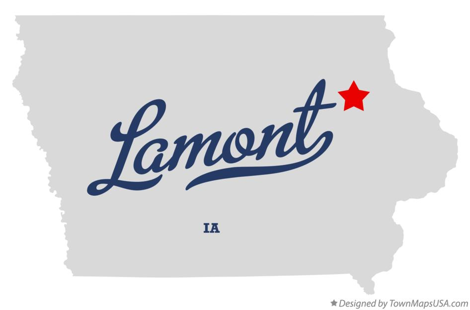Map of Lamont Iowa IA