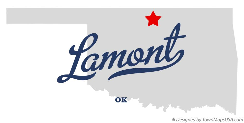 Map of Lamont Oklahoma OK