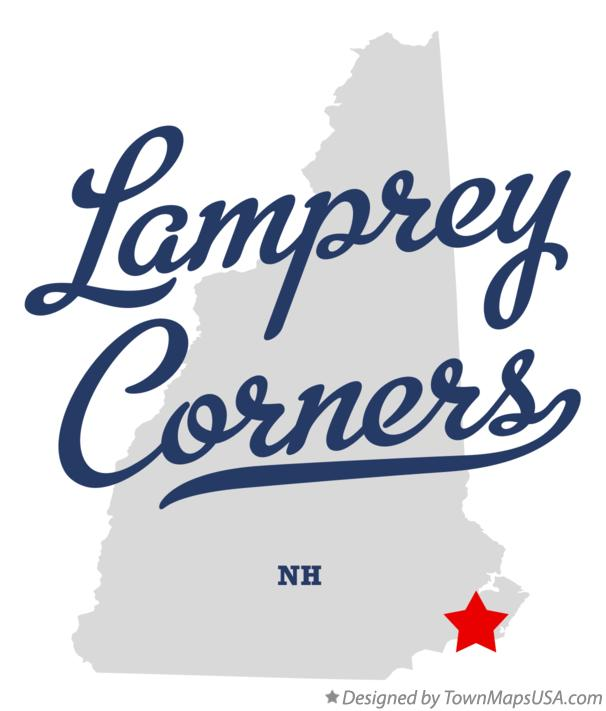 Map of Lamprey Corners New Hampshire NH