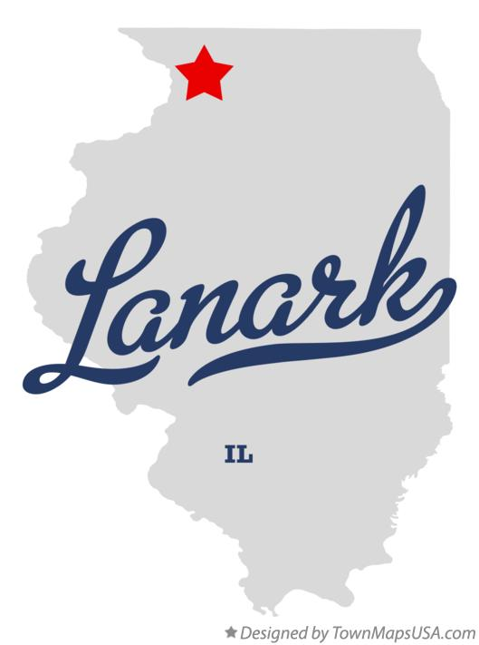Map of Lanark Illinois IL