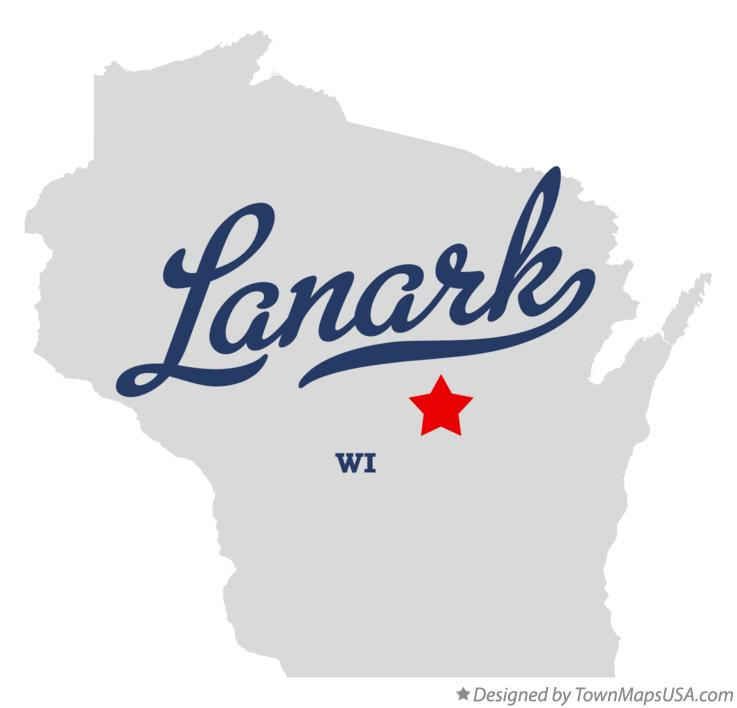 Map of Lanark Wisconsin WI