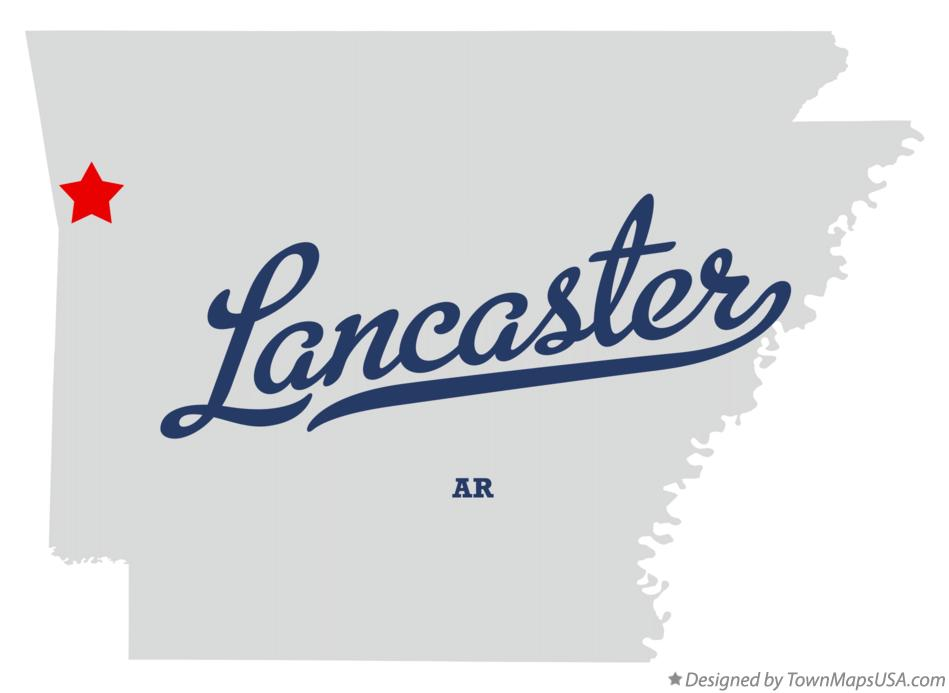 Map of Lancaster Arkansas AR