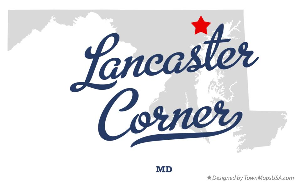 Map of Lancaster Corner Maryland MD