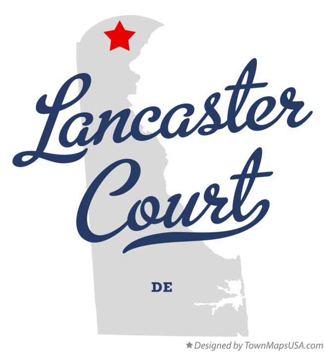 Map of Lancaster Court Delaware DE