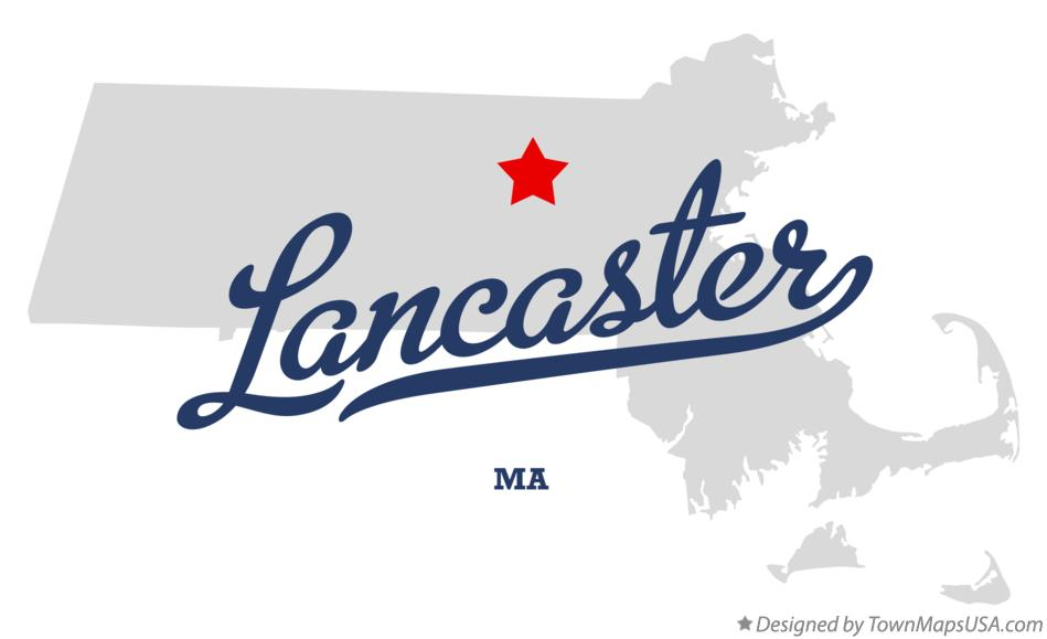 Map of Lancaster Massachusetts MA