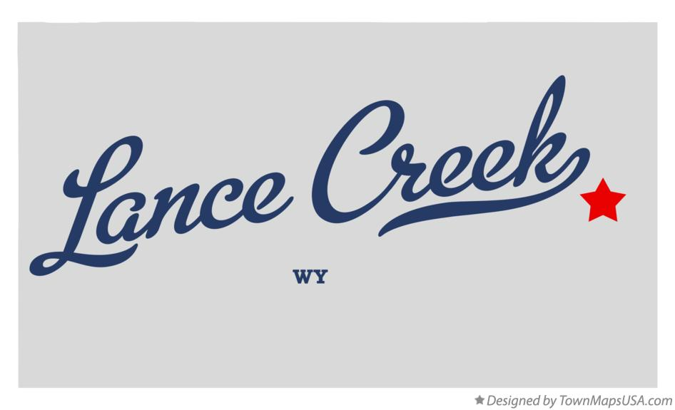 Map of Lance Creek Wyoming WY