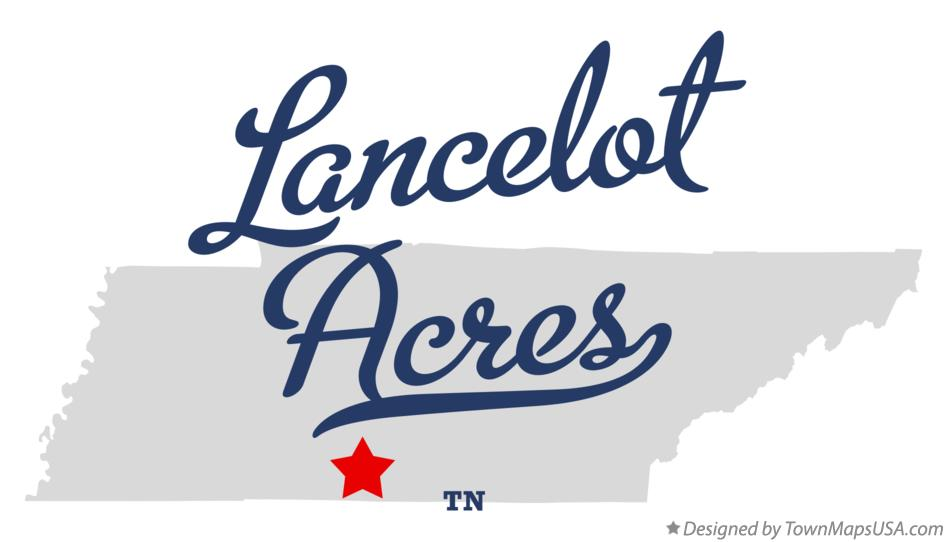 Map of Lancelot Acres Tennessee TN