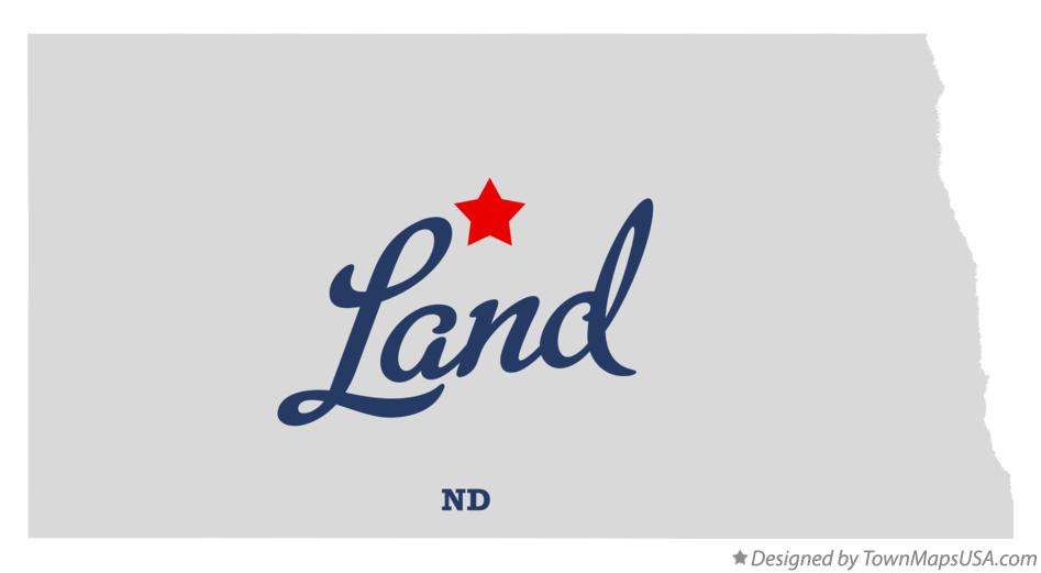 Map of Land North Dakota ND
