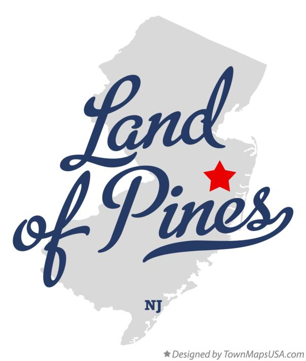 Map of Land of Pines New Jersey NJ