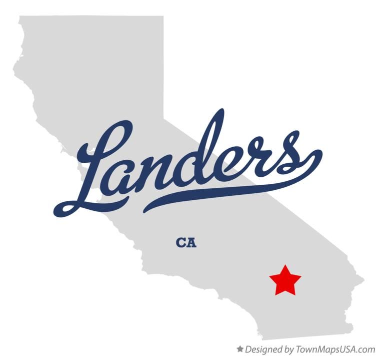 Map of Landers California CA