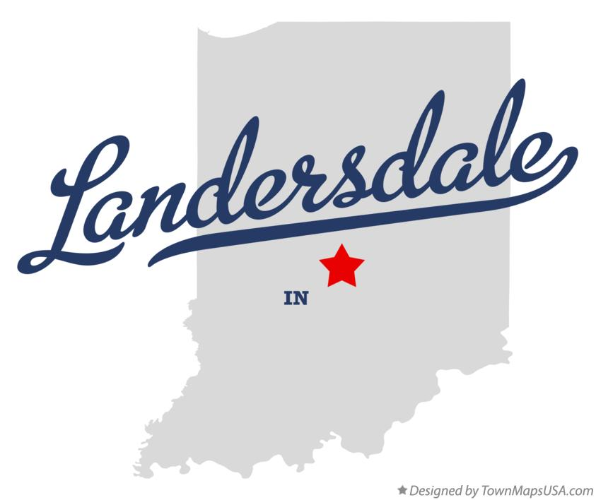 Map of Landersdale Indiana IN