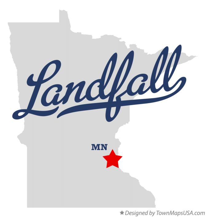 Map of Landfall Minnesota MN