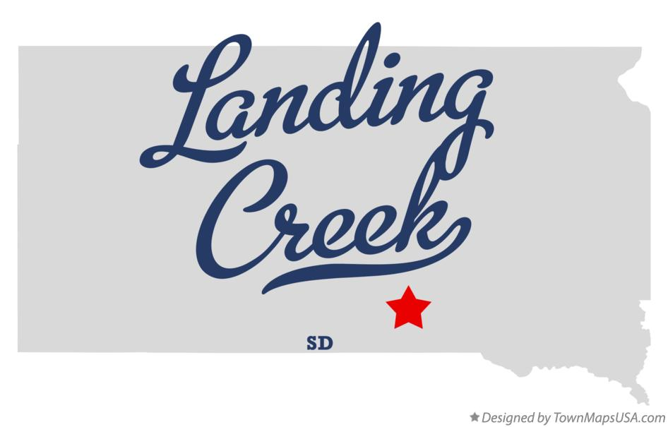 Map of Landing Creek South Dakota SD