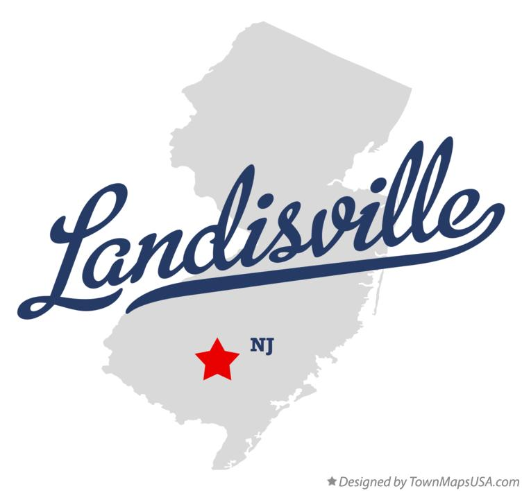 Map of Landisville New Jersey NJ