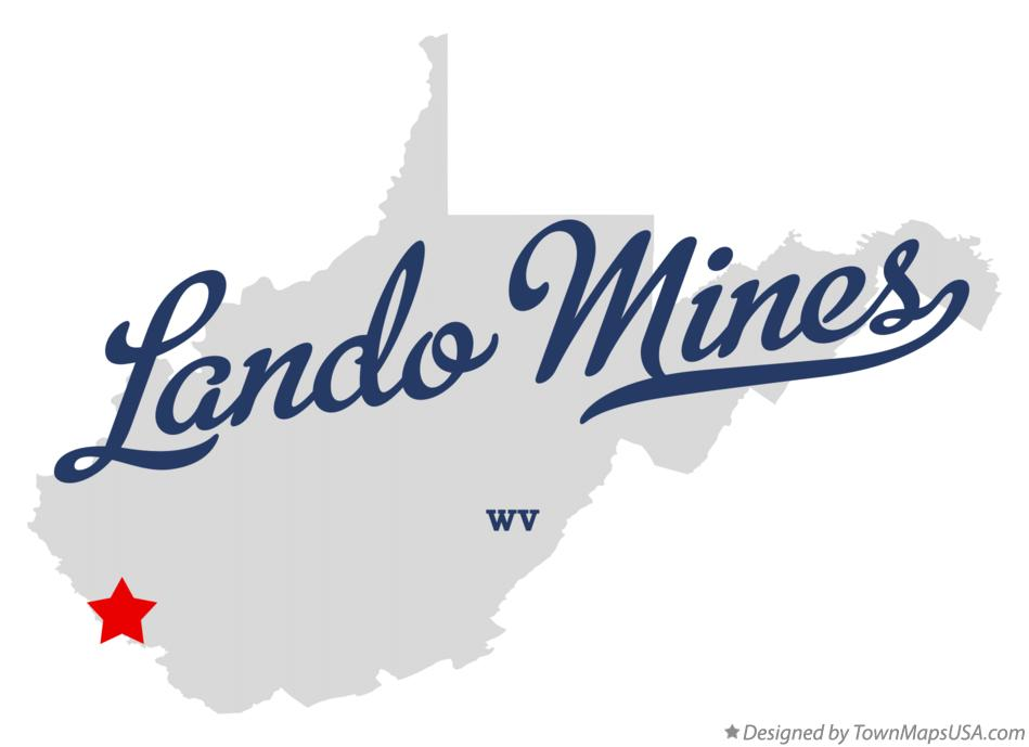 Map of Lando Mines West Virginia WV