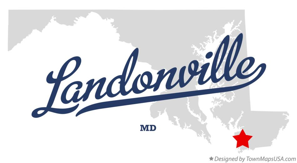 Map of Landonville Maryland MD