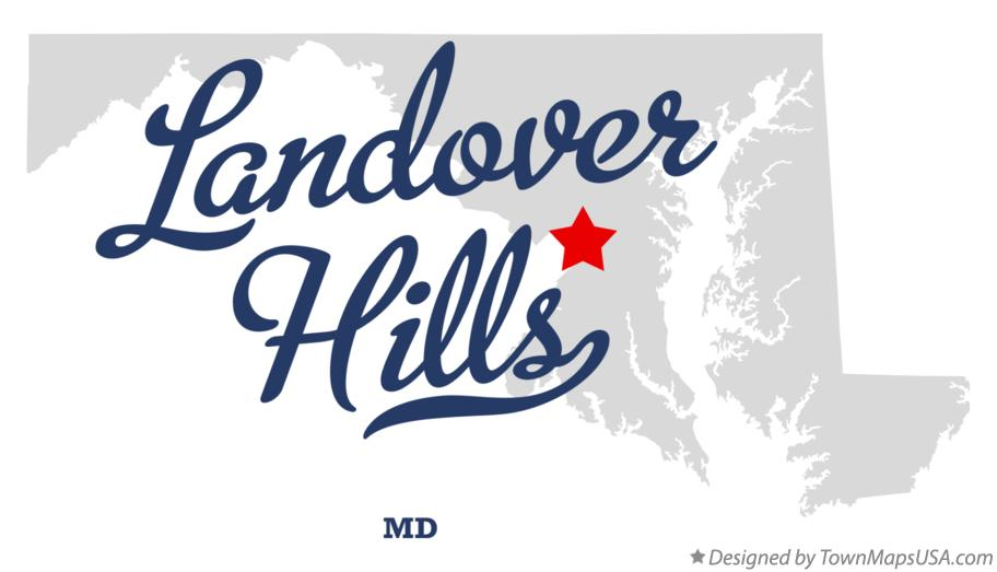 Map of Landover Hills Maryland MD